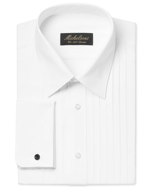Michelsons Classic Fit Pleated Wing French Cuff Tuxedo