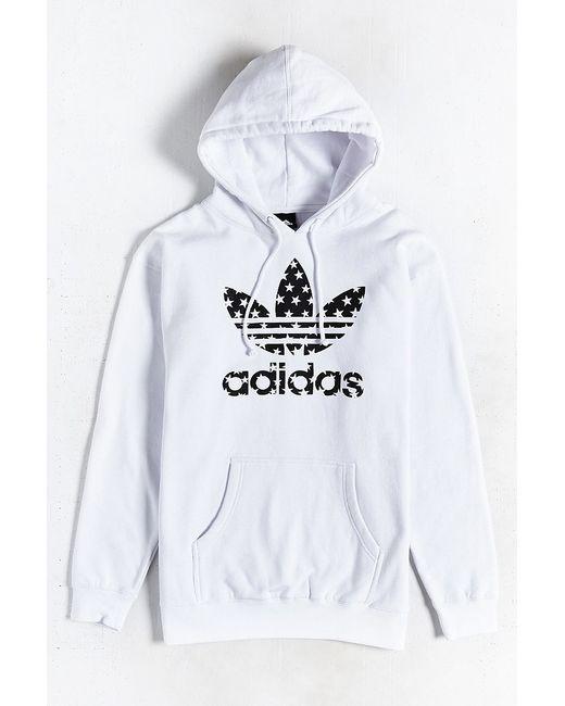 Adidas Originals | White Star Filled Pullover Hoodie Sweatshirt for Men | Lyst