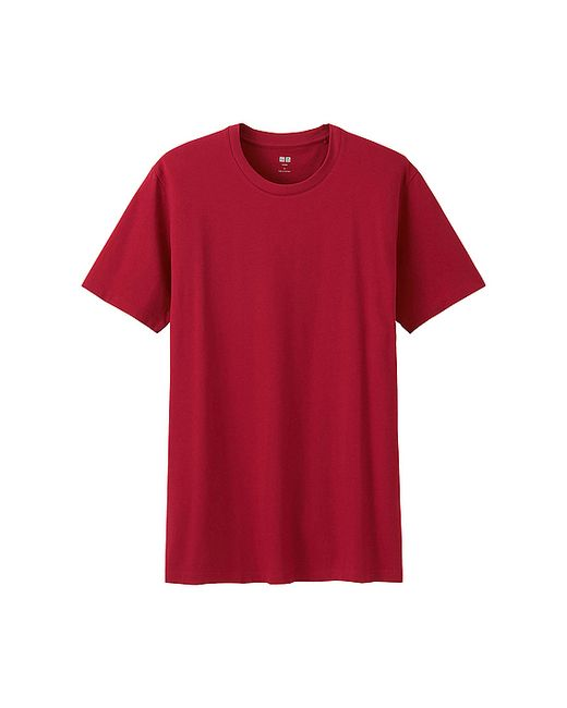 Uniqlo red supima cotton crew neck short sleeve t shirt product 0 692897064 normal