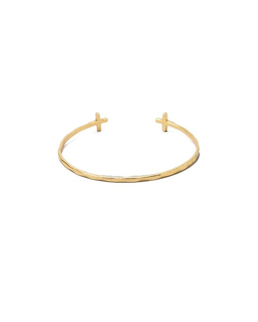 Gorjana | Metallic Cross Over Cuff Bracelet | Lyst