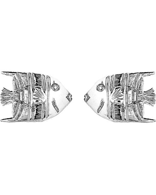 Theo Fennell | Metallic 18ct White-gold Angel Fish Stud Earrings | Lyst
