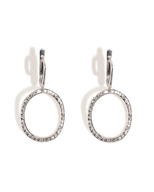 Ileana Makri | 18kt White Gold Again Single Earrings With White Diamonds | Lyst