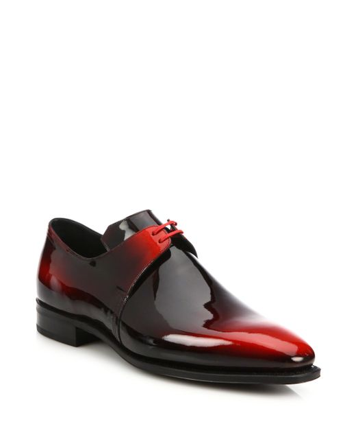 Corthay Arca Patent Leather Dress Shoes In Red For Men Lyst