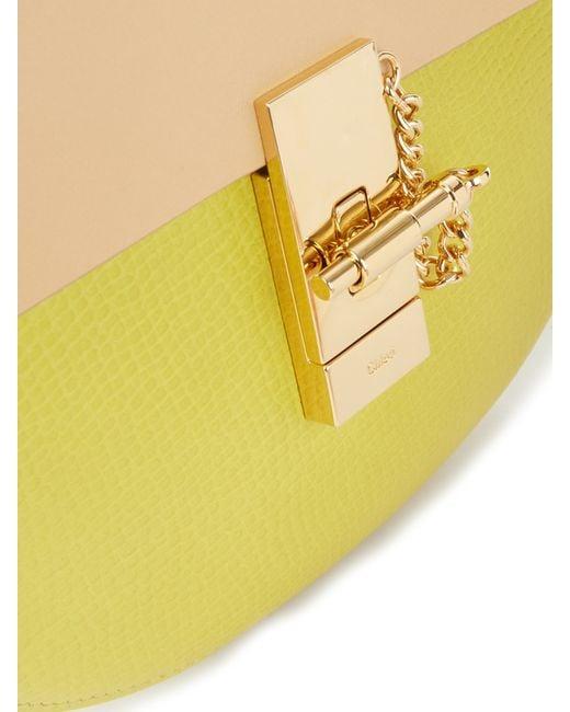 replica chloe - Chlo�� Drew Mini Leather Cross-Body Bag in Yellow | Lyst