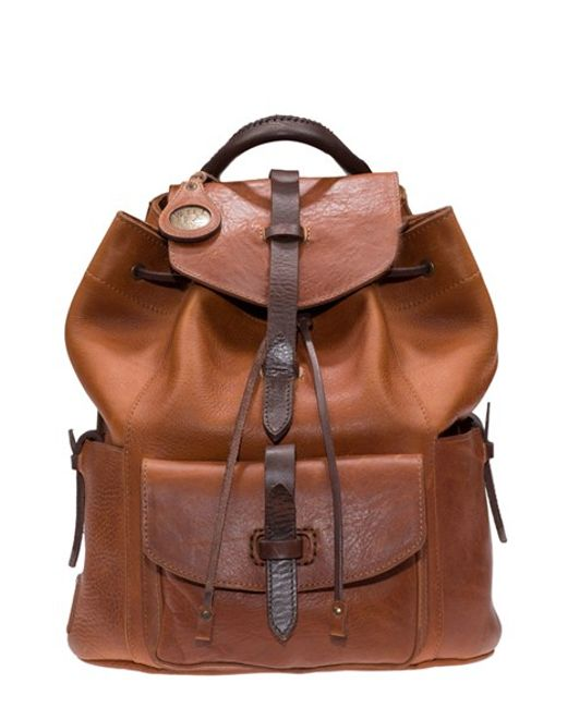 Will Leather Goods | Brown 'rainier' Leather Backpack | Lyst