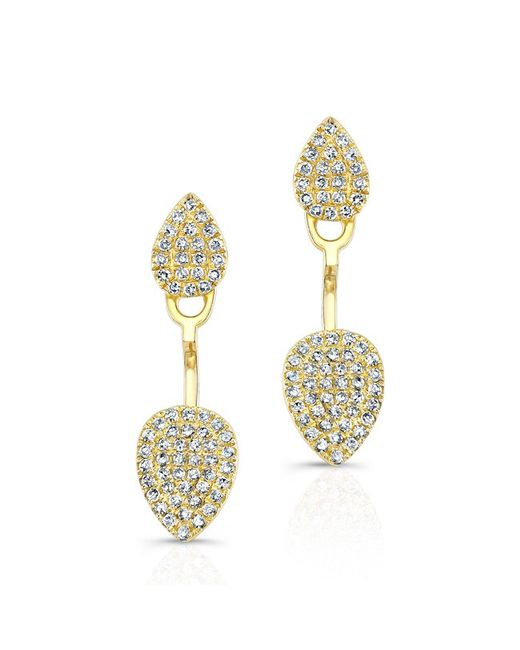Anne Sisteron | Metallic 14kt Yellow Gold Pear Shaped Floating Earrings | Lyst