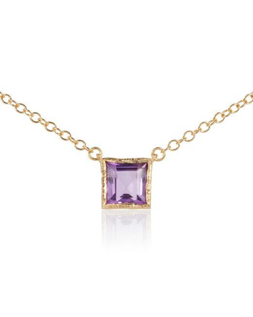 Caroline Creba | Purple 18ct Gold Plated Sterling Silver 2ct Amethyst Ne | Lyst