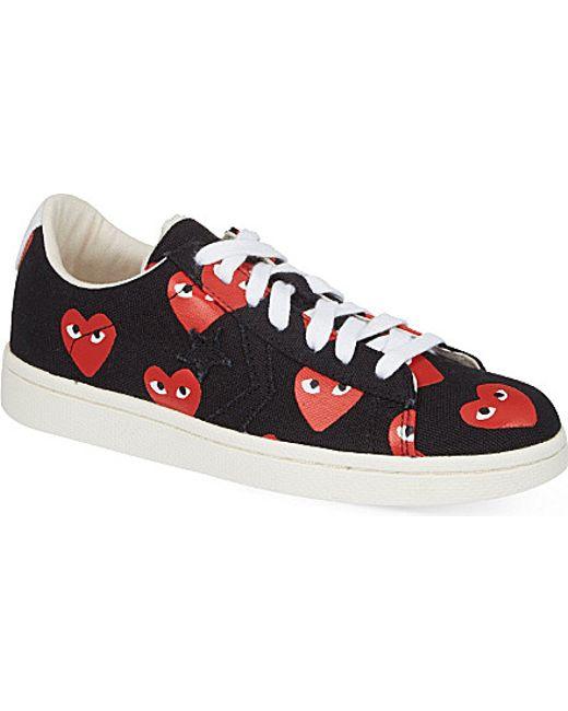 Play Comme des Garçons | Red Women's Heart-print Pro Sneakers | Lyst