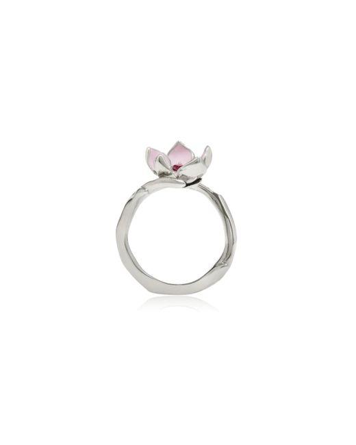 Shaun Leane | Metallic Cherry Blossom Silver Ring | Lyst