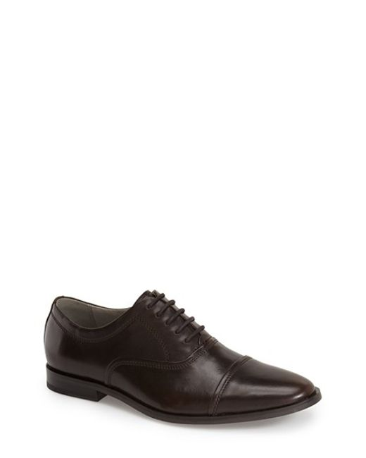 Calvin Klein | Brown 'nino' Cap Toe Oxford for Men | Lyst