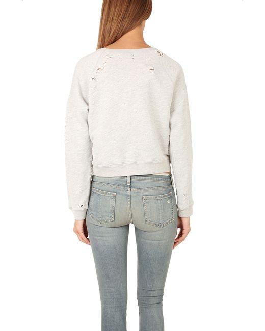 Textile Elizabeth And James Distressed Sweatshirt In Gray