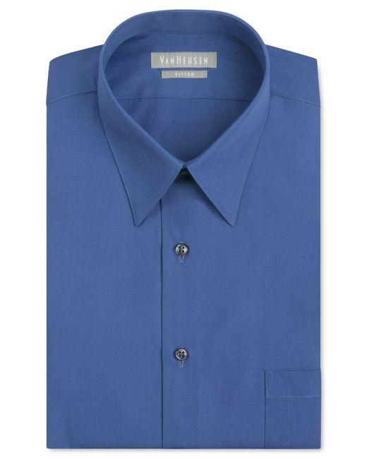 Van Heusen Men 39 S Fitted Non Iron Poplin Dress Shirt In