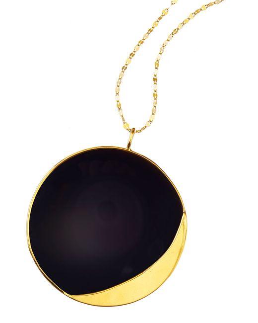 Lana Jewelry | Yellow 14k Elite Small Jet Disc Onyx Necklace | Lyst