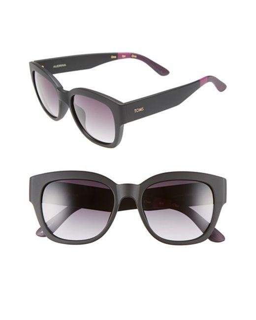 TOMS | Black 'audrina' 56mm Retro Sunglasses | Lyst