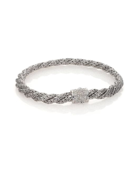 John Hardy | Metallic Classic Chain Diamond & Sterling Silver Extra-small Twisted Bracelet | Lyst