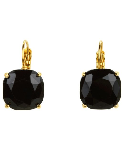 kate spade new york | Black Small Square Leverbacks | Lyst