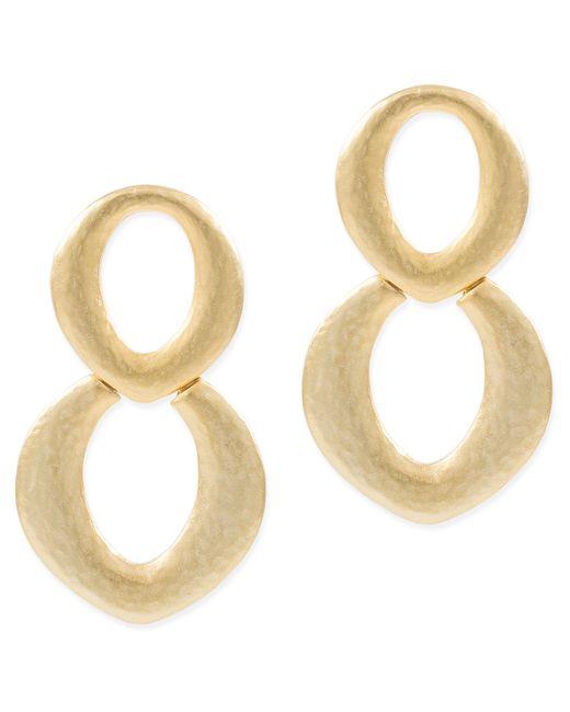 Kenneth Jay Lane | Metallic Gold Doorknocker Pierced Earring | Lyst