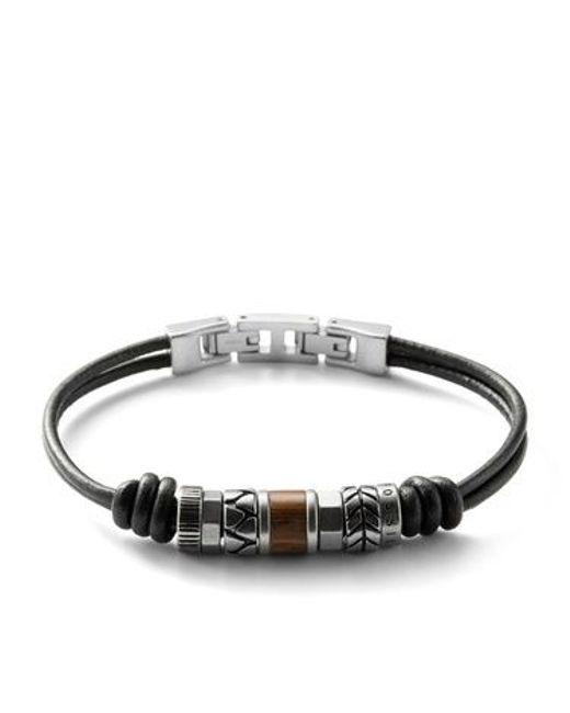 Fossil | Black Jf84196040 Mens Bracelet for Men | Lyst