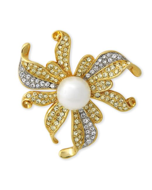 Kenneth Jay Lane | Metallic Jonquil Flower Brooch | Lyst