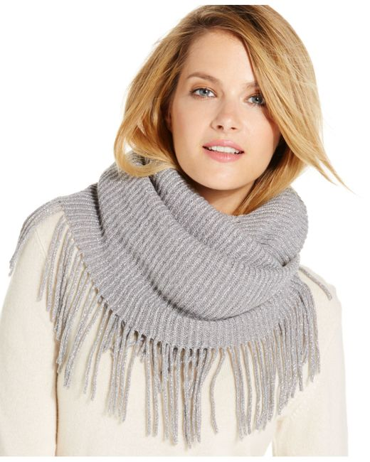 INC International Concepts | Gray Side Fringe And Shine Loop, Only At Macy's | Lyst