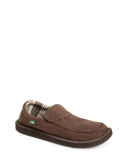 Sanuk | Brown 'chiba' Slip-on for Men | Lyst