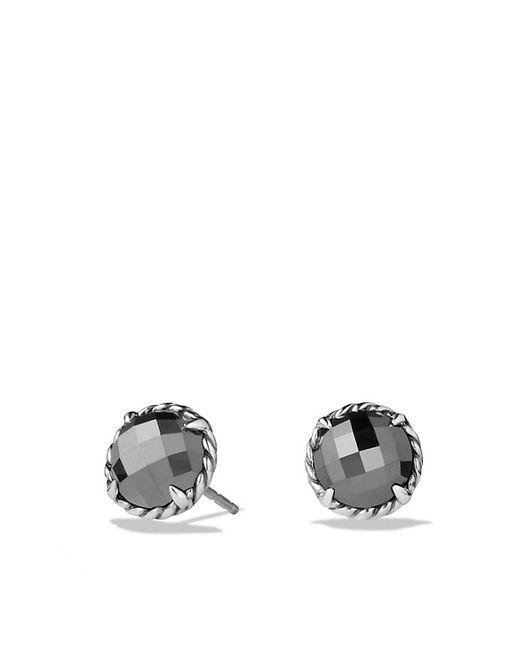 David Yurman | Blue Chatelaine Earrings With Hematine | Lyst