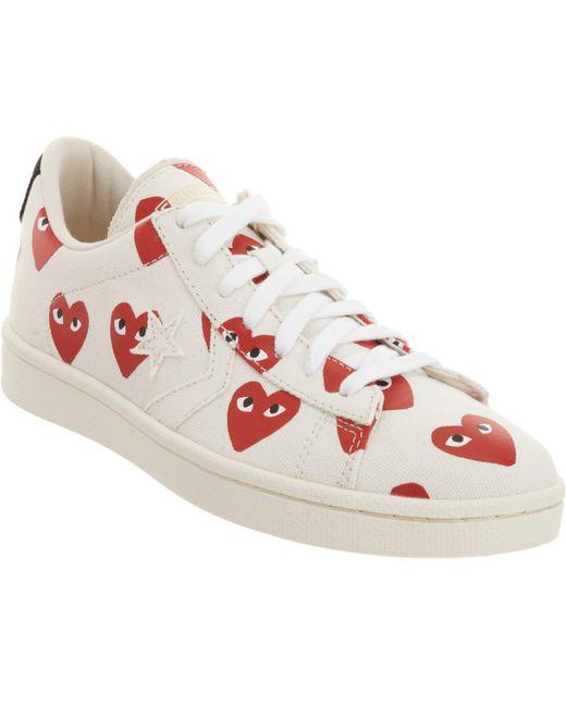 Play Comme des Garçons | White Women's Heart-print Pro Sneakers | Lyst