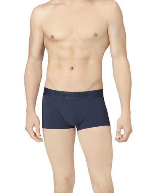 Calvin Klein | Blue 'black' Stretch Trunks for Men | Lyst