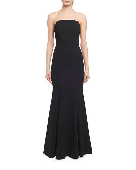 JILL Jill Stuart | Black Strapless Mermaid Gown | Lyst
