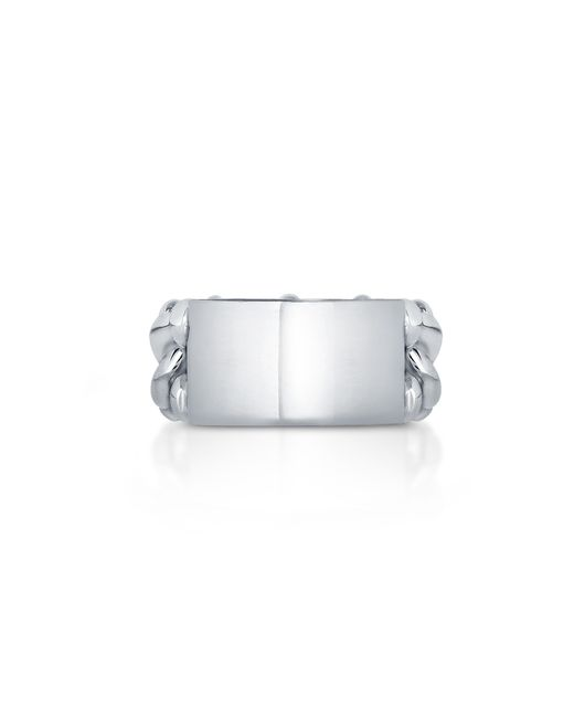 Carbon & Hyde | Metallic Id Link Ring | Lyst