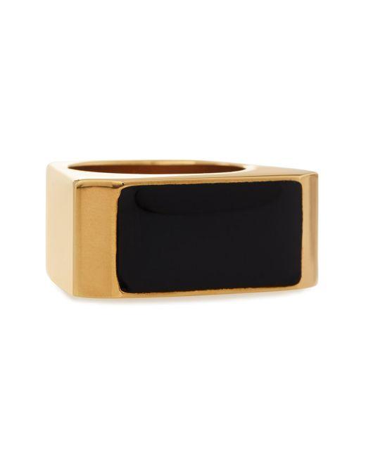 Saint Laurent | Black/golden Colorblock Ring | Lyst