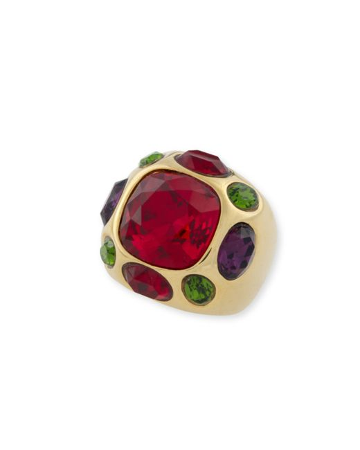 Kenneth Jay Lane | Red Ruby Center Ring | Lyst