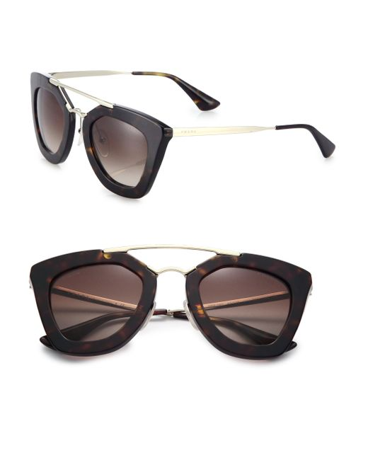 Prada | Brown Cat's-eye Sunglasses | Lyst
