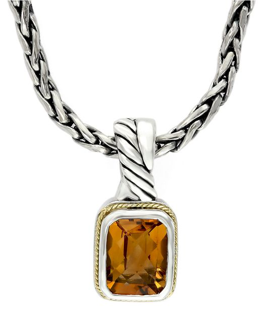 Effy Balissima Sterling Silver Necklace With 18k Gold And