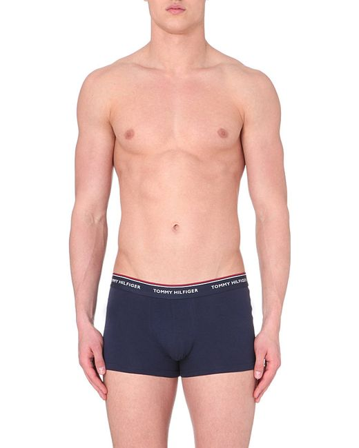 Tommy Hilfiger | Blue Pack Of Three Trunks for Men | Lyst