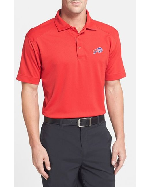 Cutter buck 39 buffalo bills genre 39 drytec moisture for Buffalo bills polo shirts