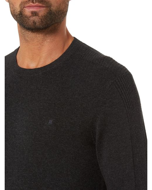 Label Lab | Gray Mccann Ribbed Shoulder Detailing Crew Neck Jumper for Men | Lyst