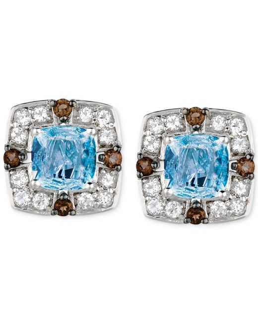 Le Vian | Blue Multi-stone Stud Earrings (2-1/2 Ct. T.w.) In 14k White Gold | Lyst