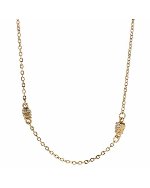 Bing Bang | Metallic Skull Choker Necklace | Lyst