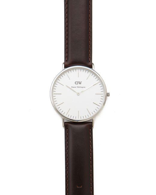 daniel wellington bristol 40mm watch with brown leather. Black Bedroom Furniture Sets. Home Design Ideas