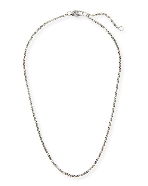 konstantino sterling silver adjustable chain necklace in