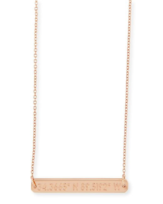 Coordinates Collection | Pink Legend Engraved Pendant Necklace | Lyst
