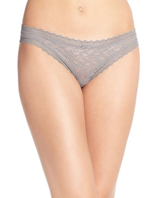Free People | Gray 'dream' Thong | Lyst