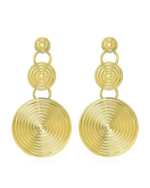 Theo Fennell | Metallic Gold Whip Triple Disc Earrings | Lyst