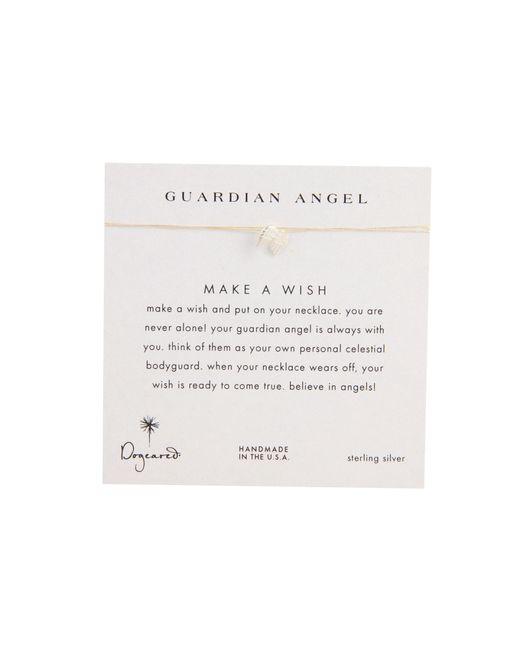 Dogeared | Natural Make A Wish Guardian Angel Necklace | Lyst