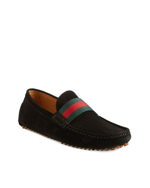 Gucci | Black 'new Auger' Driving Shoe for Men | Lyst