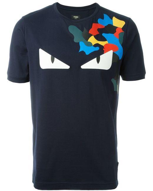 Fendi Bag Bugs T-shirt in Blue for Men   Lyst
