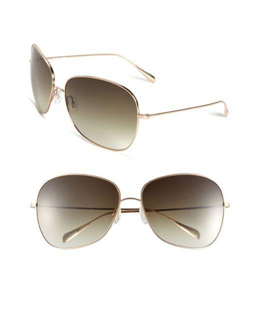 Oliver Peoples | Metallic Elsie 64mm Metal Sunglasses | Lyst