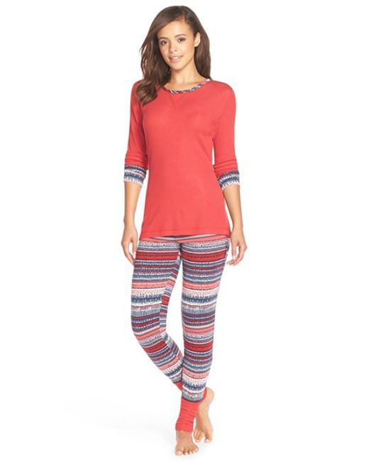 Splendid | Red Cozy Pajama Set | Lyst