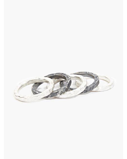 Denis Music | Metallic Silver Moebius Ring Set for Men | Lyst